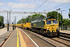 2 June. The HOBC returns to Willesden. Having photted the outward working at Cheddington the previous day 66610 leads back south at Wolverton as the 6Y60 0850 Rugby Long Lawford - Willesden Euroterminal.