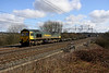 12 March. A non profitable load here as 66517 takes an almost fresh air express through Chelmscote on 4M54 1010 Tilbury - Crewe.