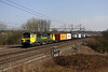 5 March. Fugly 70009 powers past Chelmscote atop the 4M54 1010 Tilbury - Crewe.
