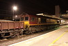 5 May. With 66136 on the other end outside the station, 66095 sits at Bletchley at 0115 on engineering duty.