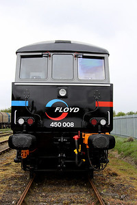 14 May. Front end detail of FLOYD 8 including the centrally fitted headlight which has the BR double arrow on the glass !