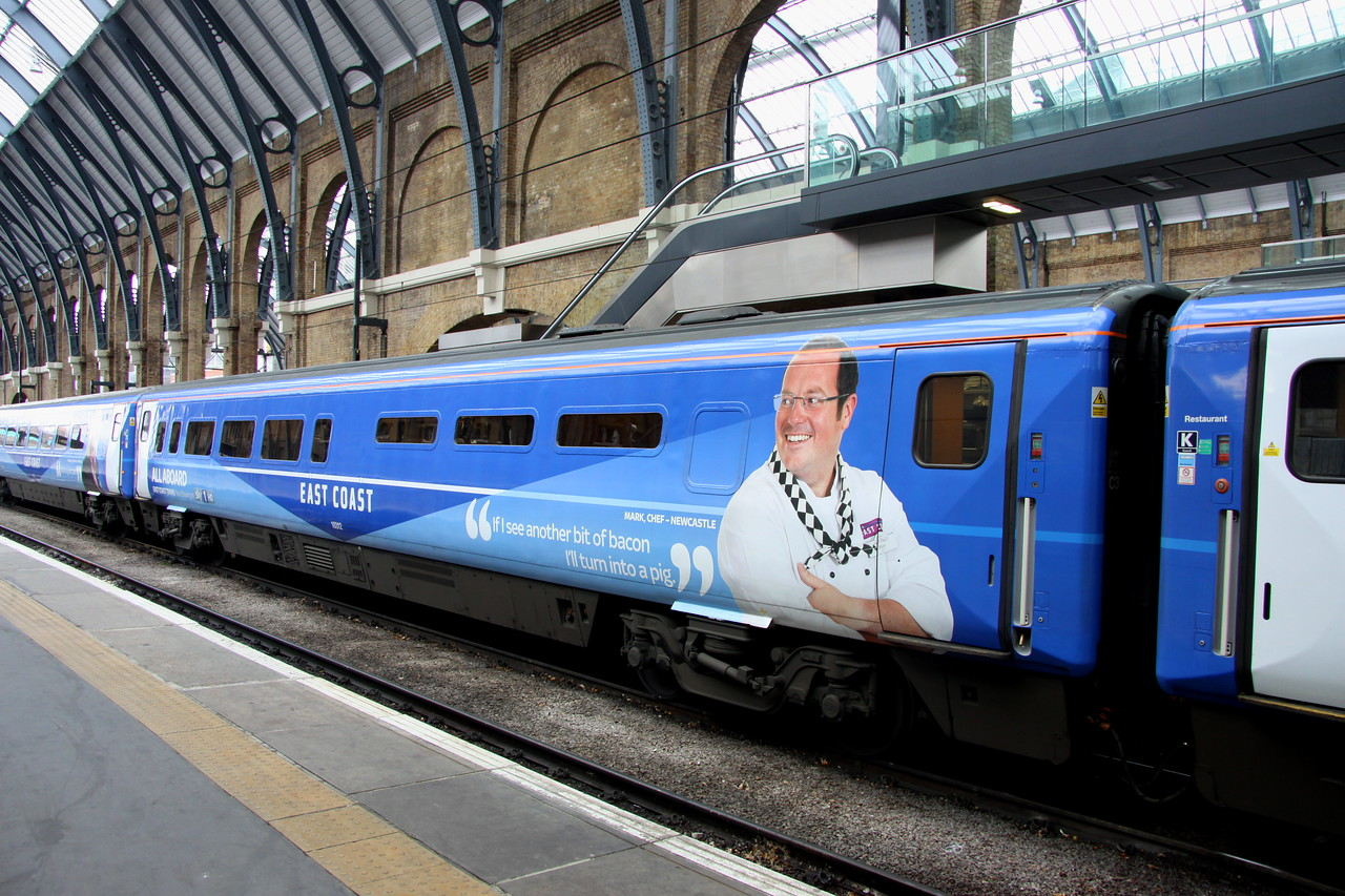 5 Nov. Anyone for a bacon sarnie !! Kitchen buffet Standard vehicle 10312 at King's Cross.