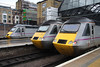 5 Nov. HST power at 'The Cross' as East Coast workhorses 43314, 43238 and 43306 await their next duties.