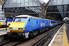 5 Nov. 91125 stands at King's Cross having just arrived with the 1A18 ex Leeds. She has been reliveried with SKY 1 HD livery to promote the upcoming ten part television series  about East Coast on SKY 1 which commences on Tuesday 12 November.