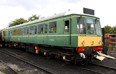 5 Oct. Guided tours of Chinnor yard took place and resident bubble W55023 is seen looking a little faded.