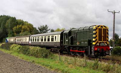 5 Oct. The birthday girl herself !! 08011 passes Bledlow Cricket Club working the 1150 Chinnor - Thame Junction.