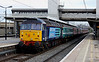12 April 2014. Sister loco 47813 Solent was on the tail of 5Z67. The stock was being taken down to London to form a Footex the following day for Chelsea fans who were travelling to Swansea for a Premier League match.