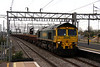 12 April 2014. Heavyhaul interloper as 66531 heads past Bletchley with the 6Y16 Crewe Basford Hall - North Wembley Junction engineers.