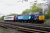 4 April 2014. 47813 Solent passes Bradwell with a solitary Mk3 vehicle 12132 en route to Norwich Crown Point with the 5Z61 1449 ex Wolverton Centre Sidings. This vehicle formerly carried National Express colours. 47813 is on her third different name having previously been named S.S.Great Britain and John Peel.
