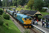 2 August 2014. Tranquility at Groombridge as McRat 26038 Tom Clift 1954-2012 arrives with the 2T64 1115 Eridge - Tunbridge Wells West. The scottie loco was visiting from her usual base at the Bo'Ness and Kinneil Railway in Scotland.