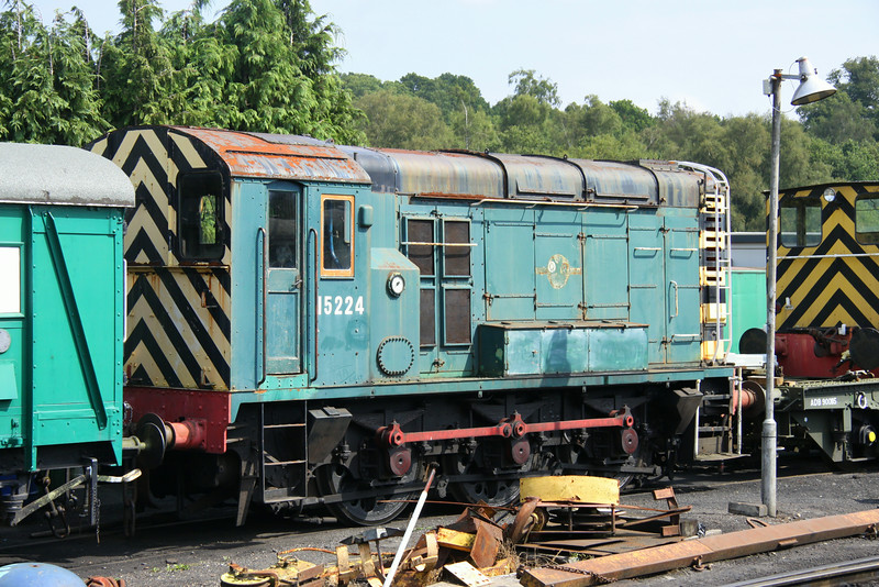 2 August 2014. The start of August includes a trip to the Spa Valley diesel gala. Class 12 totalled 26 locomotives but only one survives. The sole survivor 15224 stands on Tunbridge Wells West shed.