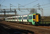 13 December 2014. Five car 377707 speeds past Soulbury whilst working the 2M35 1107 South Croydon - MK.