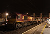 27 Jan 2014. All is silent as 66155 is seen at Bletchley on the rear of the 6R50 2004 Crewe BH - Bletchley comprised of ten Autoballasters.