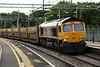 12 July 2014. GBRf 66741 curves through Wolverton atop the 6L48 1400 Garston - Dagenham cartics. 66741 was a former Freightliner loco namely 66581 Sophie.