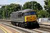 21 June 2014. Grid alert as 56312 Jeremiah Dixon Son of County Durham Surveyor of the Mason-Dixon line U.S.A. runs light through Wolverton as the 0Z57 1211 Barrow Hill - Willesden Euroterminal.