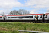 6 May 2014. X Men 390155 vehicle 69455 carrying PROFESSOR X vinyls passes Soulbury with the 1B40 1150 BNS - Euston.