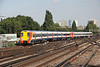 8 September 2014. Another pair of standard 458's in the form of 8018 + 8022 arrive at Clapham Junction working a Reading bound service from Waterloo.