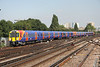 8 September 2014. 458502 + 458535 run into Clapham Junction entrusted with the 2U37 1325 Waterloo - Windsor & Eton Riverside.