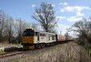 11 April 2015. And so to the Nene Valley Railway Diesel Gala with the first view showing 31271 Stratford 1840-2001 passing Castor with the 2M45 1050 Peterborough - Wansford.