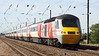 3 July 2015. Carrying interim Virgin livery, 43308 HIGHLAND CHIEFTAIN forms the rear of 1B81 0730 Lincoln Central - King's Cross seen passing Holme Green.