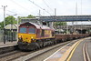 20 June 2015. Workworn 66171 brings up the tail of 6R01 through Wolverton.