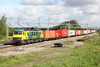 30 May 2015. Sunny Skoda as 90045 hauls the 4L97 0457 Trafford Park - Felixstowe south at Gordon's Lodge.