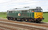 1 May 2015. Fresh from her appearance at the Nene Valley Diesel Gala, DCR 31601 heads south at Soubury on the 0Z31 1123 Crewe - Willesden Euroterminal.