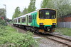8 May 2015. Shades of green as 150105 pulls away from Fenny Stratford with the 2S21 1549 Bletchley - Bedford.
