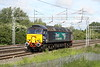 30 May 2015. 57306 is the only DRS operated 57/3 to not carry a name and is seen here coasting past Bradwell working as the 0Z57 0722 Crewe Gresty Bridge - Ramsgate EMUD. She was due to haul 375304 from the Isle of Thanet to Derby for a refresh later the same day but the working was cancelled.
