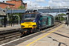 30 May 2015. Only just making it to Wolverton in time I managed a shoot and hope shot of 68003 Astute passing through working the 0Z56 0815 Crewe Gresty Bridge - Willesden Brent.