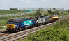 16 May 2015.  Colourful Castlethorpe cavacade as 57310 Pride of Cumbria leads 68012 and 57312 Solway Princess north on the 0Z69 0955 Wembley LMD - Crewe Gresty Bridge running just over a hour and a half late.