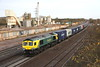 28 November 2015. Former DRS 66414 James the Engine  now works for Freightliner and is one of only a handful of FL 66's to carry PowerHaul colours. 66414 heads south approaching Banbury with the 4O14 0737 Hams Hall - Southampton.