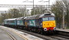 14 November 2015. Dire weather (again) as 57003 leads 57011, a Mark 2 coach 6117 and 57310 Pride of Cumbria head south through Wolverton with the 0Z68 0625 Crewe Gresty Bridge - Willesden.