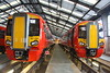 17 January 2016. The latest deliveries at the time of this photo, 387208 + 387209 are seen side by side inside Bletchley Depot. Both these units departed Bletchley TMD for Three Bridges the following day.