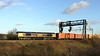 15 January 2016. Low winter sun catches 66770 passing Soulbury with 4M23 1046 Felixstowe - Ham Hall.