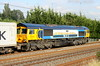 8 July 2016. 66709 Sorrento sails past the camera at Stoke Hammond with the 4L18 1418 Trafford Park - Felixstowe.