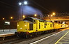 13 October 2016. With the exhaust of 97301 illuminating the night sky, the yellow duo prepare for the short run back to Bletchley before travelling across the branch to the MML.