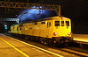 13 October 2016. Not an everyday sight at MK. 73951 Malcolm Brinded + 97301 disturb the night time peace during a reversal working the 0M57 1736 Weymouth - Derby RTC. The duo had been on SW metals undertaking third rail testing and were due to traverse the Bletchley - Bedford route on their way back to Derby. Having passed through platform one at Bletchley and therefore unable to access the branch, they continued to MK for the reversal to access the correct path at Bletchley.