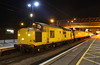 5 April 2017. With the time having just passed 0230, yellow syphon 97301 stands at MK during a reversal working the 3Q69 2124 Rugby Depot - Rugby Depot via Euston and MK.