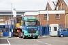 7 April 2017. Safely in. 57244 enters Knorr Bremse Wolverton Works.