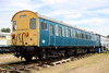 8 July 2017. Vehicle 75023 from unit 307123 stands on display at ERM, Baginton. A number of class 307 vehicles were converted after withdrawal for use on mail traffic but this vehicle escaped that fate to survive to this day.