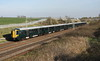 24 March 2017. GWR class 387 testing continues as 387146 + 387147 head away from camera at Castlethorpe on the 5A55 1404 Crewe - Wembley.