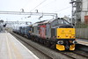 18 March 2017. 37800 rolls into Bletchley off the Bedford branch with South Eastern 375812 in tow working the 5Q58 0440 Derby Litchurch Lane - Ramsgate TMD.