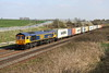 24 March 2017. White wheel rimmed 66773 deputises for 66755 at Castlethorpe on 4M23 1046 Felixstowe - Hams Hall. 66755 had worked this service for the previous four days before 66773 took over.
