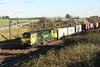 27 October 2017. 70015 takes 4M88 0932 Felixstowe - Crewe past Castlethorpe.