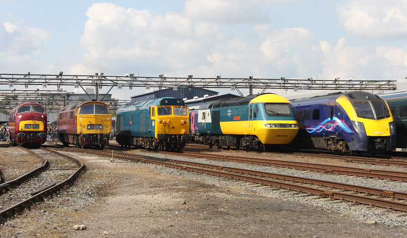2 September 2017. Warship D821, D1015 WESTERN CHAMPION, 50035 Ark Royal, 43002 Sir Kenneth Grange and 180102.