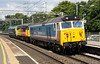 1 September 2017. Classic traction to start the month as 50017 Royal Oak and D400 (50050) Fearless sandwich Colas 56049 through Wolverton on the 1150 Washwood Heath - Old Oak Common HST Depot move in connection with the following days open day in London.