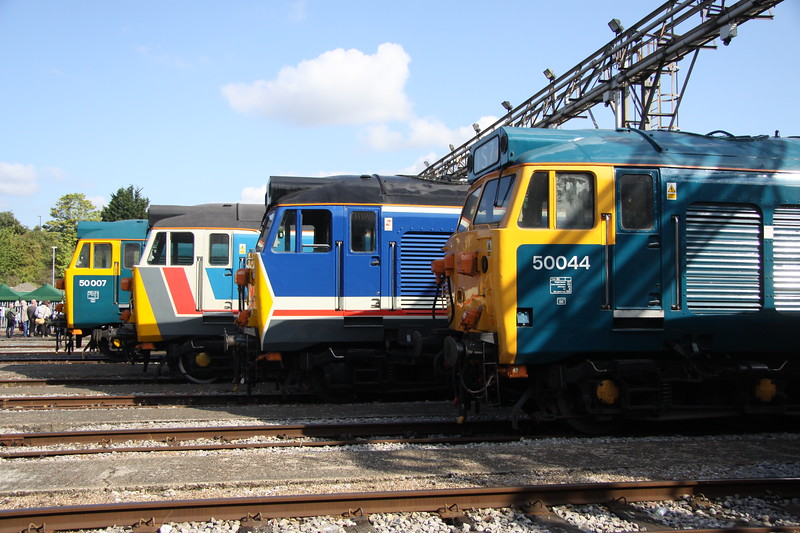 2 September 2017. Hoover heaven with 50007 Hercules, 50017 Royal Oak, 500026 Indomitable and 50044 Exeter.