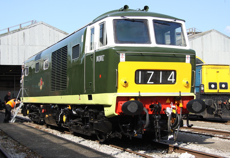 2 September 2017. A sparkling Hymek D7017 at OOC open day. She is only one of four surviving Hymeks out of an original 101 built.