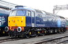 2 September 2017. 47813 is seen at OOC and is the first loco to gain full Rail Operations Group livery.